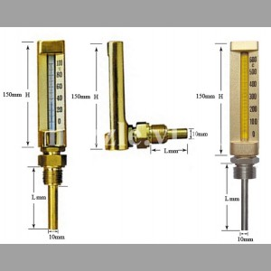 Термометр виброустойчивый, угловой